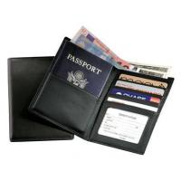 Leather Travel Wallet w Passport-Sized Pocket & Oversized Currency CompartmentItem #: 95146 Manufactures