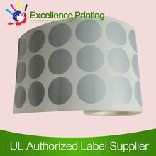 Quality PET adhesive silver sticker for sale