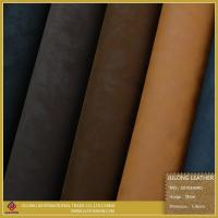Shoe Leather High Quatliy Printed Flocking Shoe Leather (S070) Manufactures