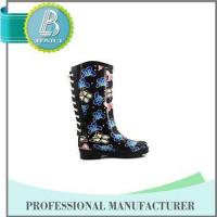 Newest Design Butterfly Print Rain rubber shoes snow grips Manufactures