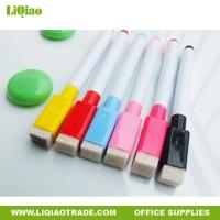 Buy cheap 15cm black core enviromental innocuous whiteboard pen with brush from wholesalers