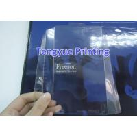 Plastic Card Product  silver stamping clear PVC print sheet/card