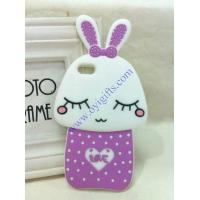 Cartoon shy rabbit silicone phone covers Manufactures