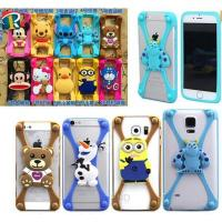 Christmas gift 3D cartoon universal silicone bumper case for mobile phone Manufactures