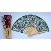 2015720133437chinese silks flower wooden fan New Manufactures