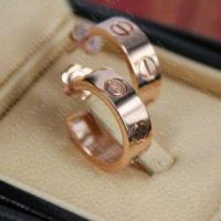 China Where Buy Replica Cartier Love Earrings 18K Pink Gold on sale