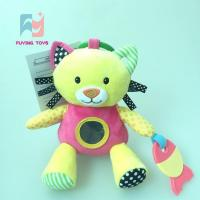 Crinkle Paper Baby Plush Toys cat with mirror and toother Manufactures