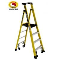 2 Ladder Set - Podium Ladder with Casters Manufactures