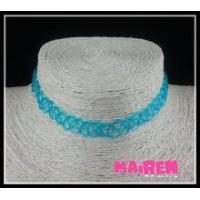 high quality durable fresh blue tattoo choker necklace Manufactures