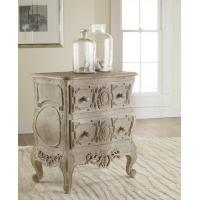 Chests & Dressers Carved French Bow Nightchest in Weathered Solids Manufactures