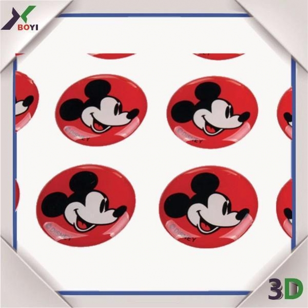 Quality Promotional Gifts Disney cartoon Epoxy Dome Sticker for sale