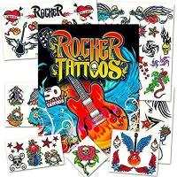 Rock Star Temporary Tattoos Party Favor Set (50 Rocker Tattoos) Manufactures