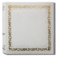 Small Classic White Italian Leather Scrapbook Manufactures