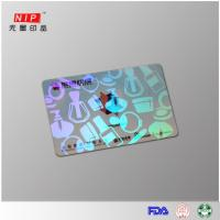 Hologram Id Overlay Hologram embossed transfer overlay with laser effect Manufactures