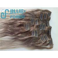 Double Drawn Clip In Brazilian Hair Extension Large Stocks Any Color Size 8-30inch Customization Ava Manufactures