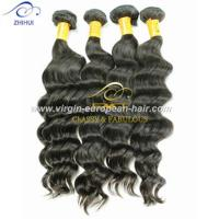 Double Drawn 8A human hair wholesale price dye-able deep wave brazilian hair weave Manufactures