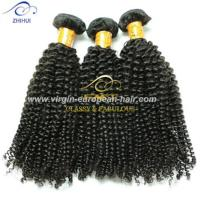 Buy cheap 100% raw unprocessed kinky curly hair extension spanish wave wholesale remy brazilian hair weaving from wholesalers