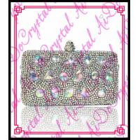 Aidocrystal 2015 fashion type pearl clutch evening bags crystal beaded handmade bag Manufactures