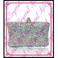Aidocrystal Top Beauty white rhinestone crystal designer indian clutch purses wholesale Manufactures
