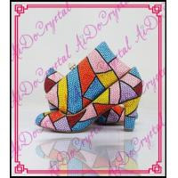 Aidocrystal Handmade top designer crystal custom italian shoes and matching bag set for party Manufactures