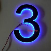 Factory Stainless steel led luminous house number Manufactures