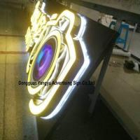 Factory antique stainless steel backlit pizza shop sign Manufactures