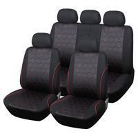 China Hot Sales Soccer Ball Car Seat Cover Man Jacquard Fabric SUV Truck Accessories - Red Black on sale