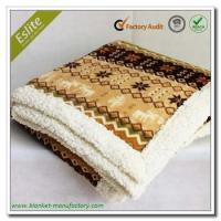 China Border 2 Ply Rotary Print Fleece Mexican Blanket on sale