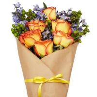 Buy cheap Wrapped Orange Rose Bouquet from wholesalers