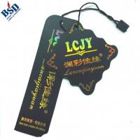 Buy cheap Gold stamping hang tag from wholesalers