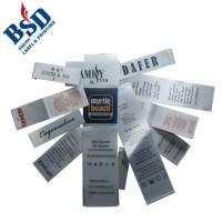 Buy cheap Custom garment care label and content label with care symbols printingx from wholesalers