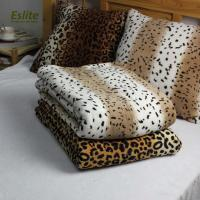 China 100%Polyester Leopard Pattern Warm Heavy Coral Fleece Mexican Blanket on sale