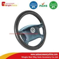 China Lace Grain Leather Steering Wheel Cover on sale